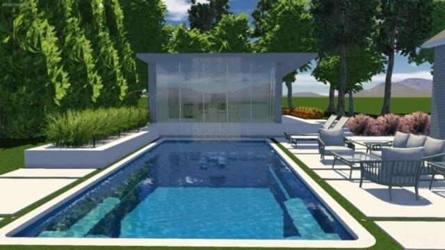 Creative scape pool design